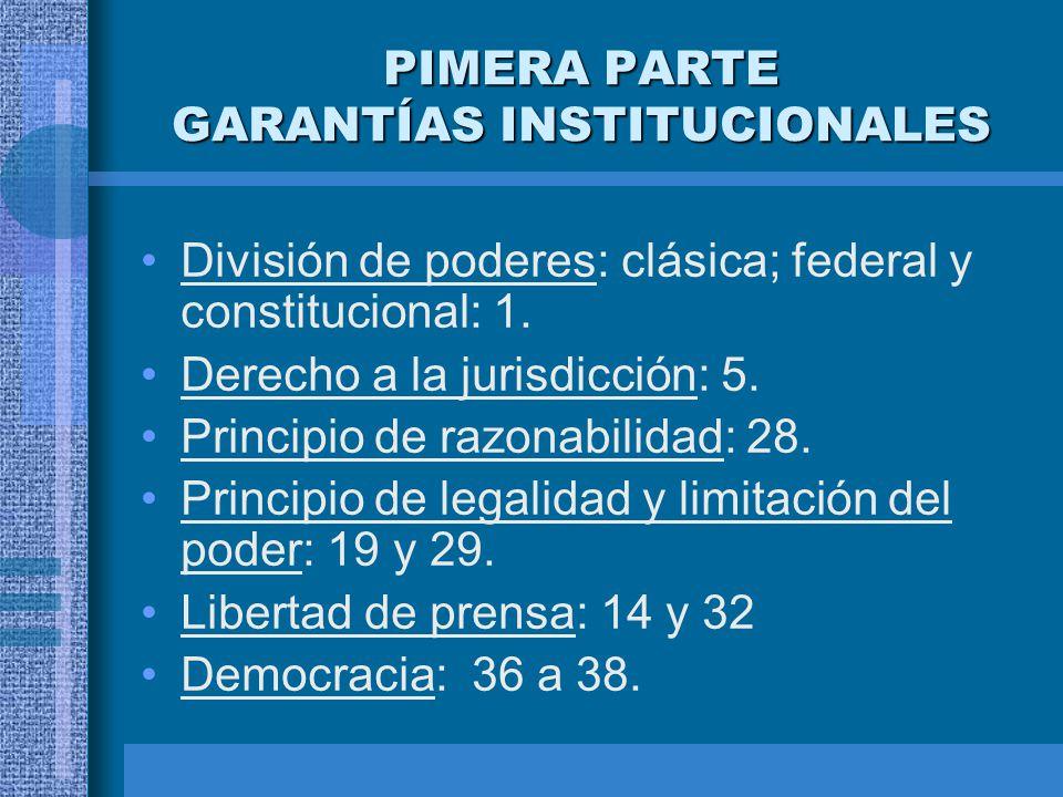 PIMERA PARTE GARANTÍAS INSTITUCIONALES