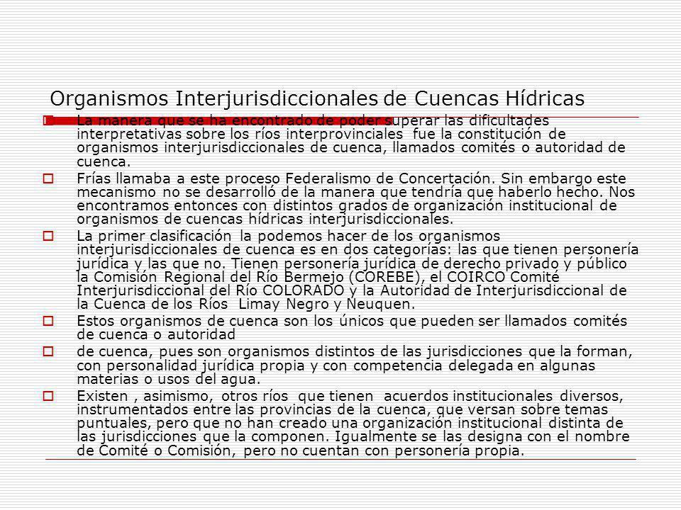 Organismos Interjurisdiccionales de Cuencas Hídricas