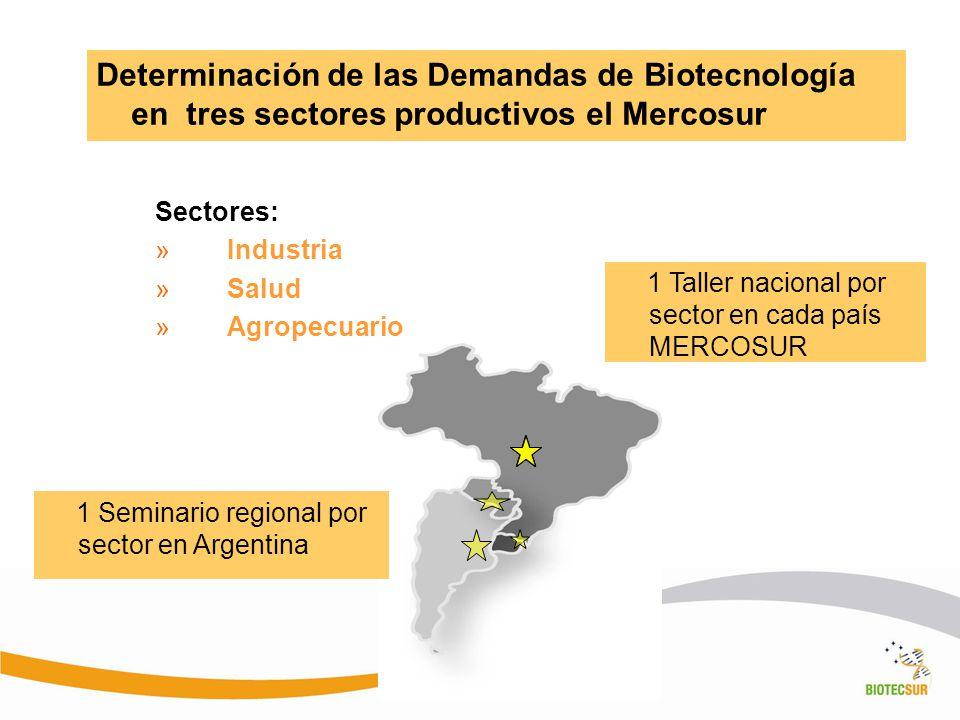 Determinación de las Demandas de Biotecnología en tres sectores productivos el Mercosur