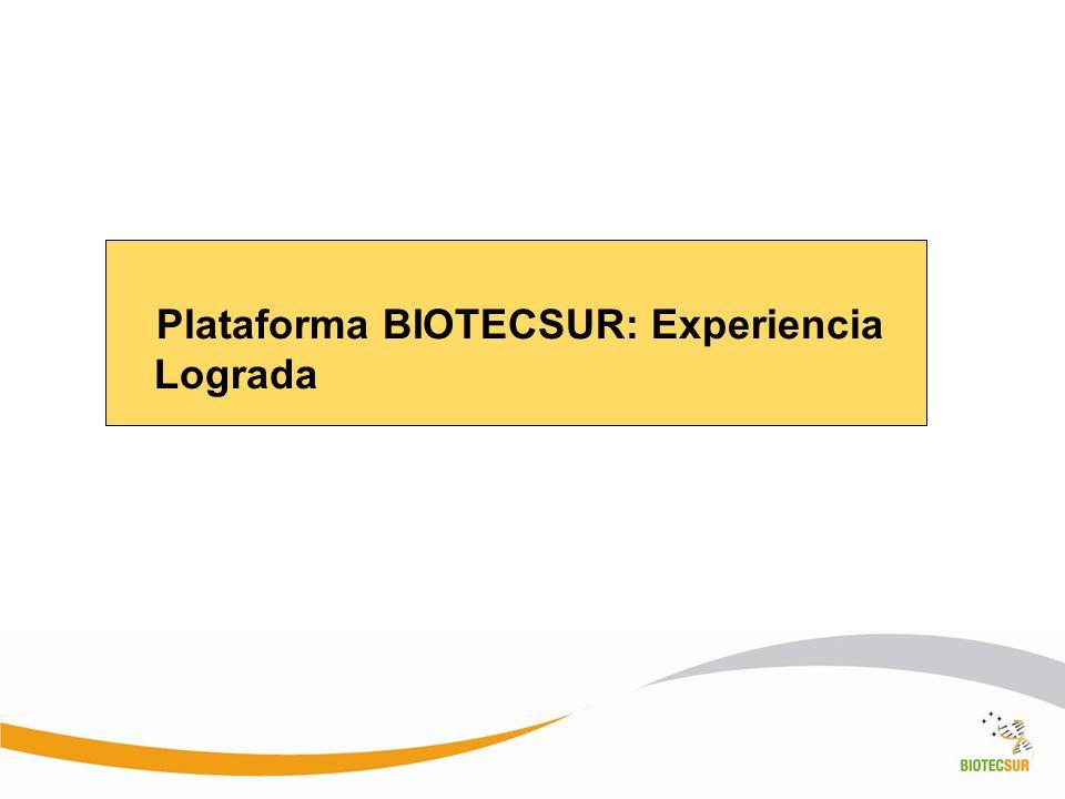 Plataforma BIOTECSUR: Experiencia Lograda