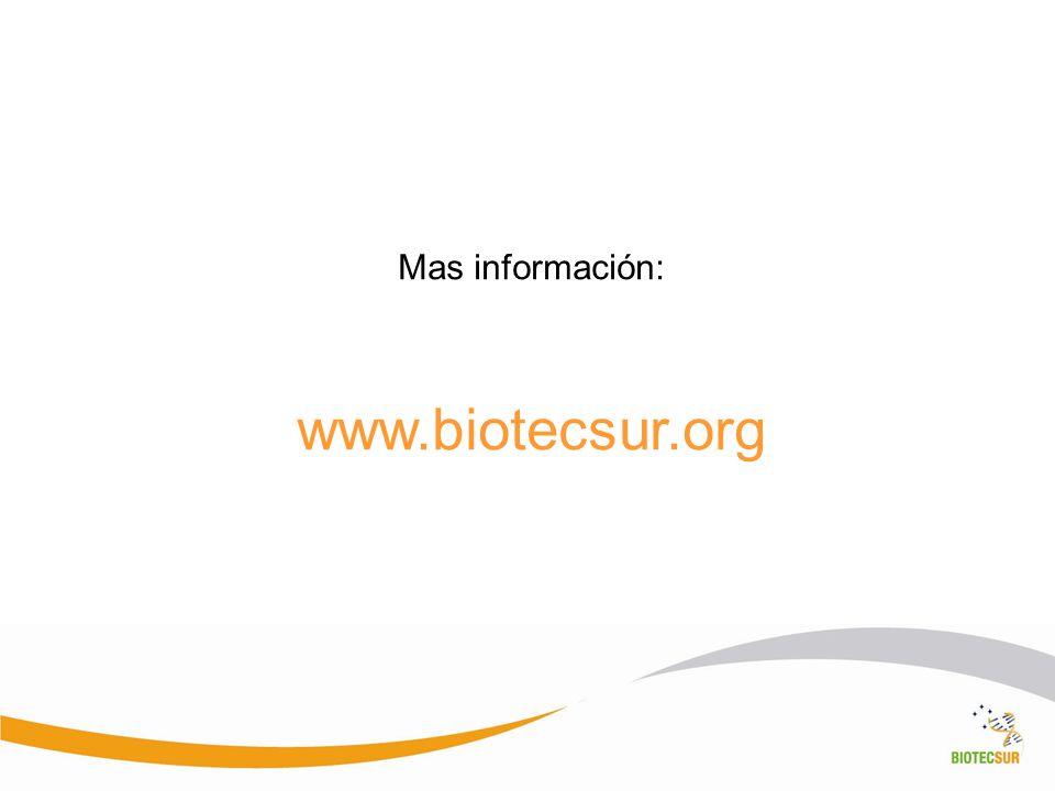 Mas información: www.biotecsur.org