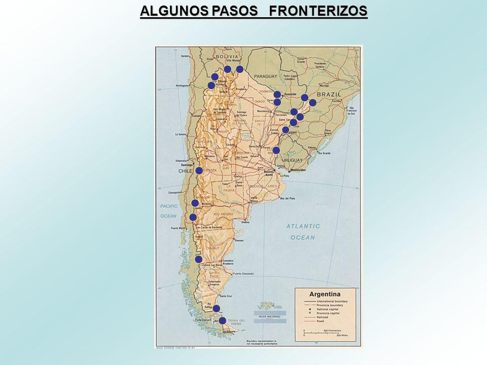 ALGUNOS PASOS FRONTERIZOS