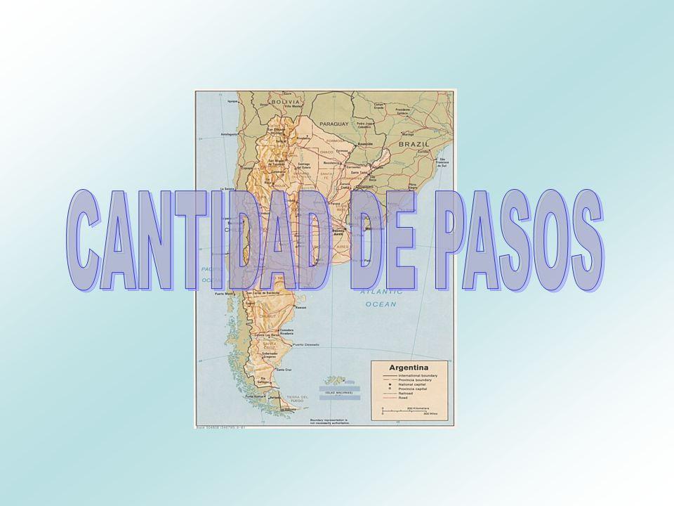CANTIDAD DE PASOS