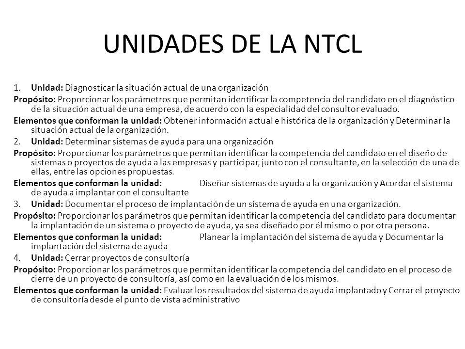 UNIDADES DE LA NTCL