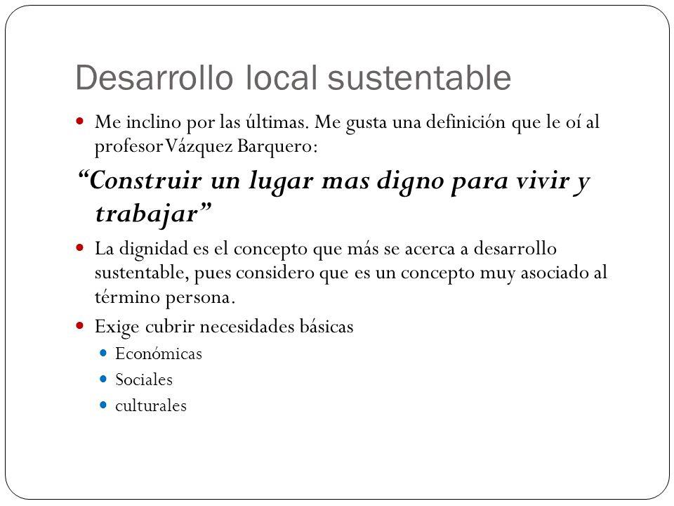 Desarrollo local sustentable