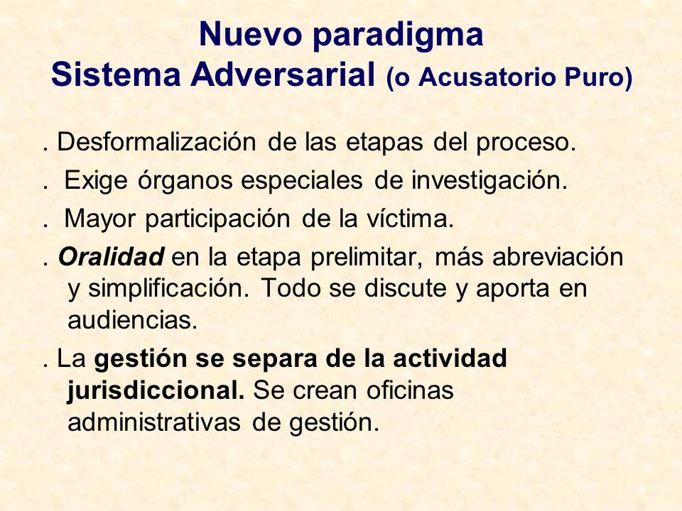 Nuevo paradigma Sistema Adversarial (o Acusatorio Puro)