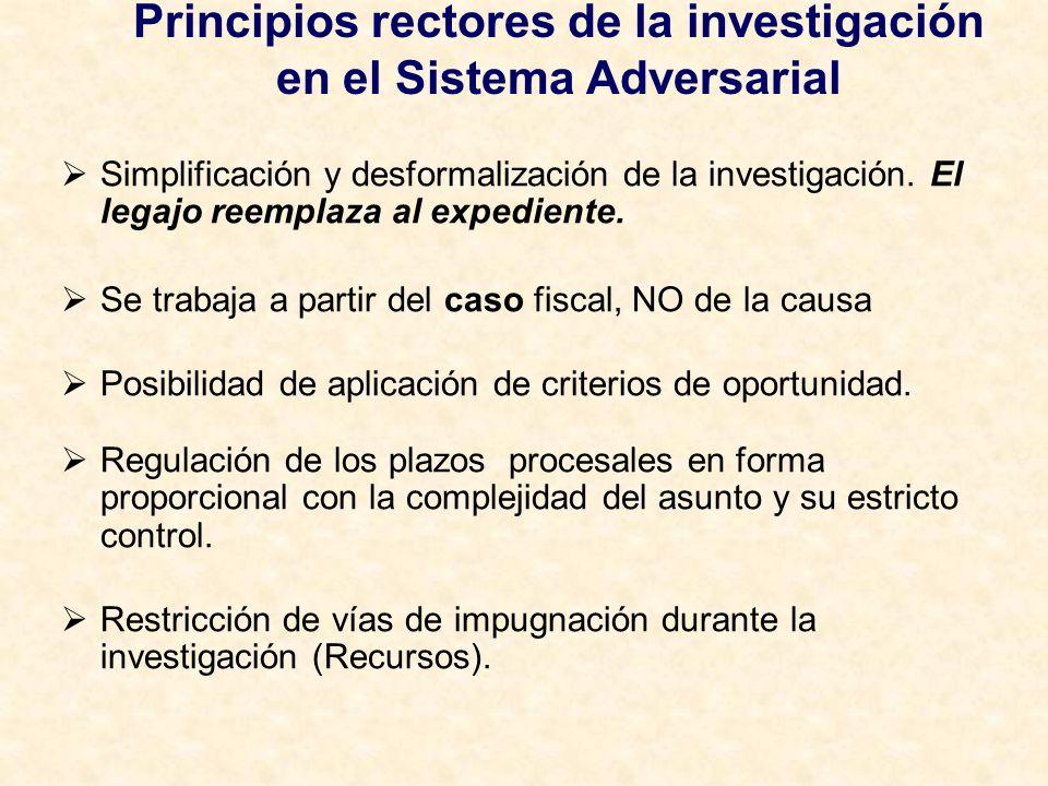 Principios rectores de la investigación en el Sistema Adversarial