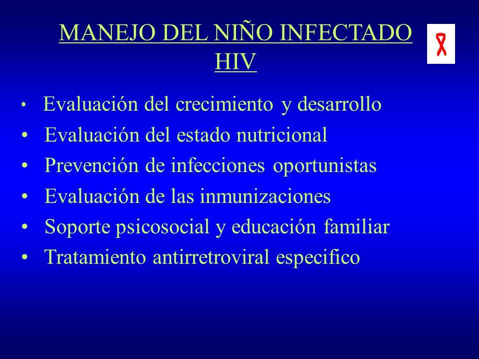 MANEJO DEL NIÑO INFECTADO HIV