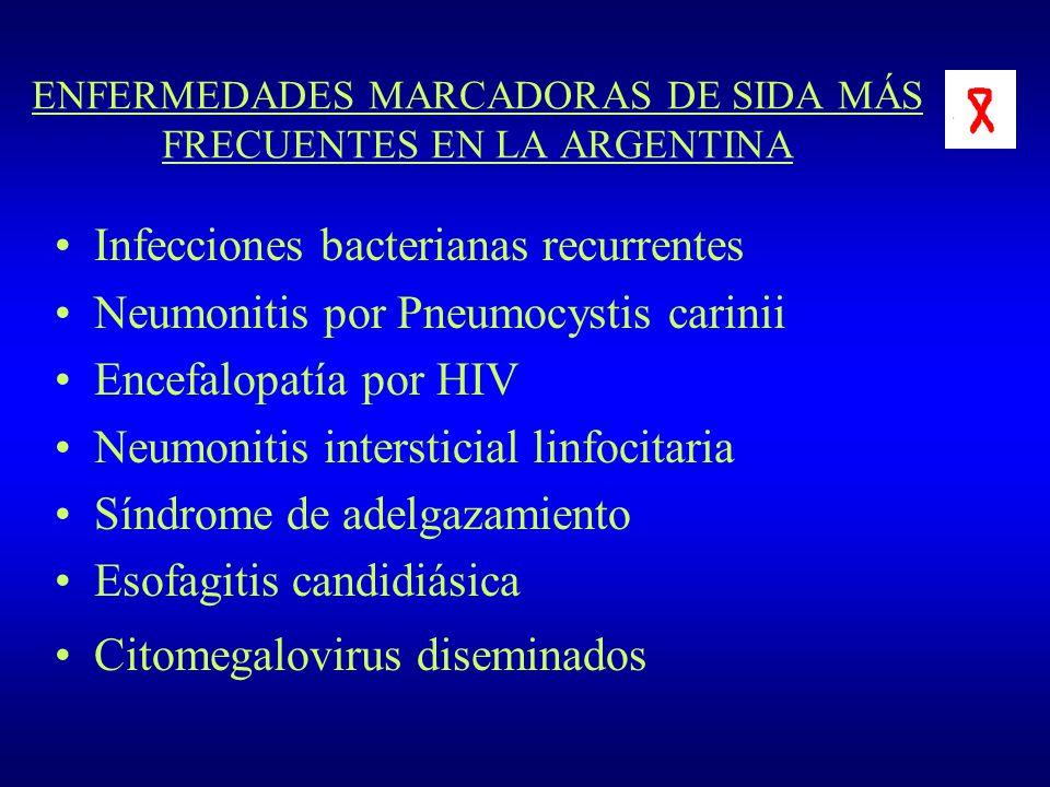 ENFERMEDADES MARCADORAS DE SIDA MÁS FRECUENTES EN LA ARGENTINA