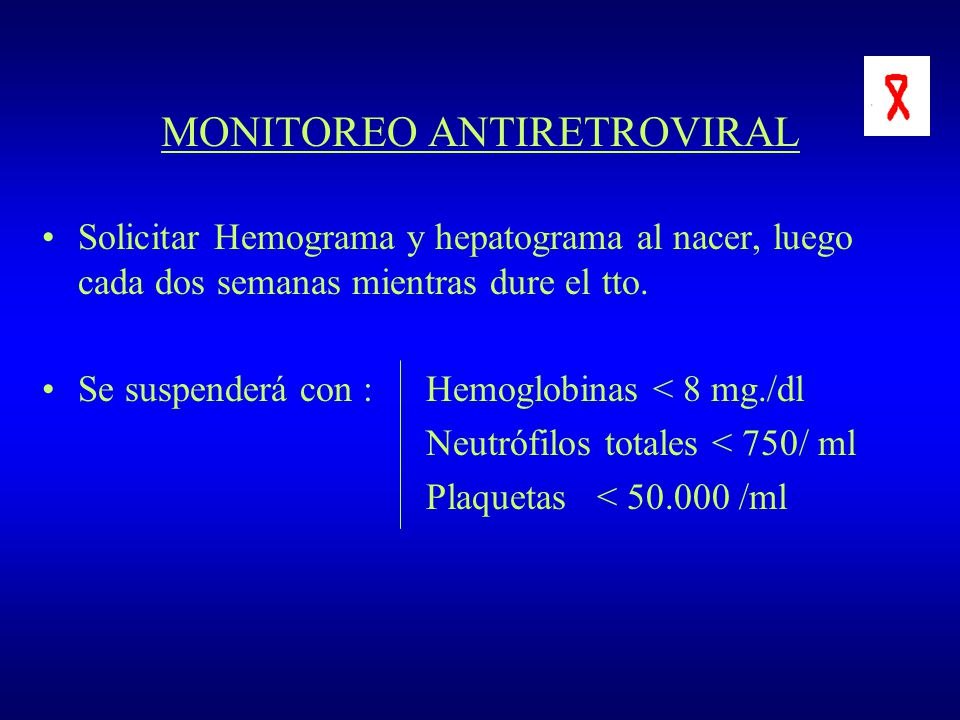 MONITOREO ANTIRETROVIRAL