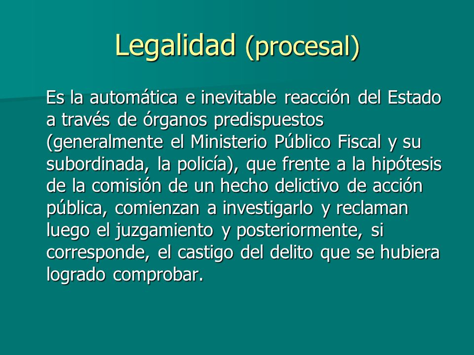 Legalidad (procesal)