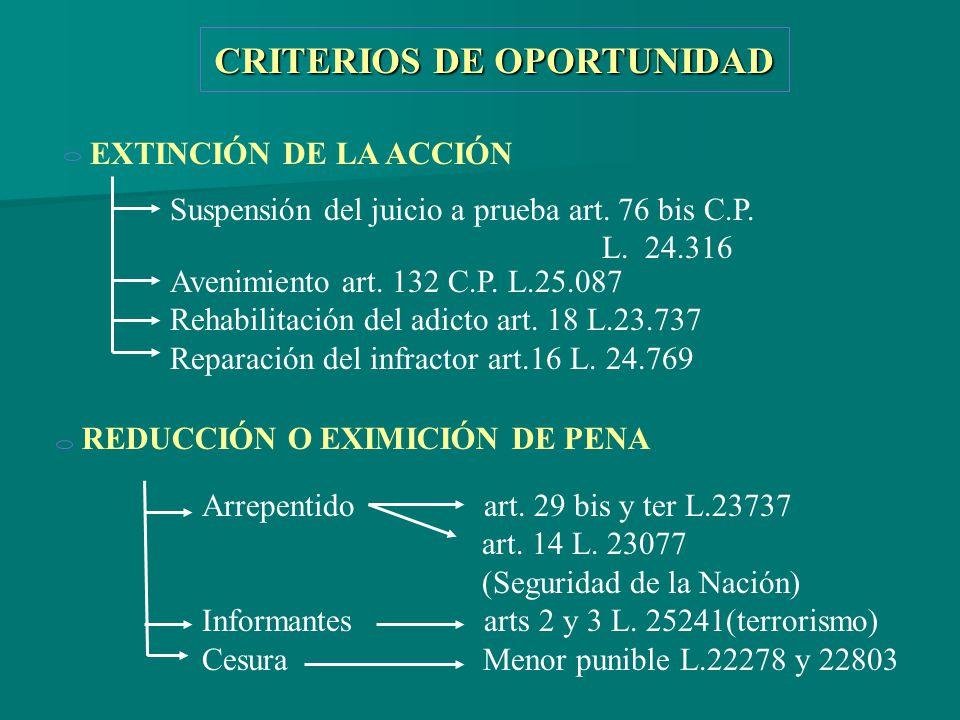CRITERIOS DE OPORTUNIDAD
