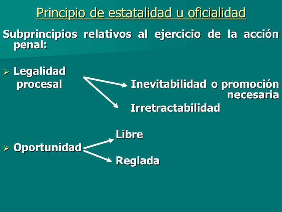 Principio de estatalidad u oficialidad