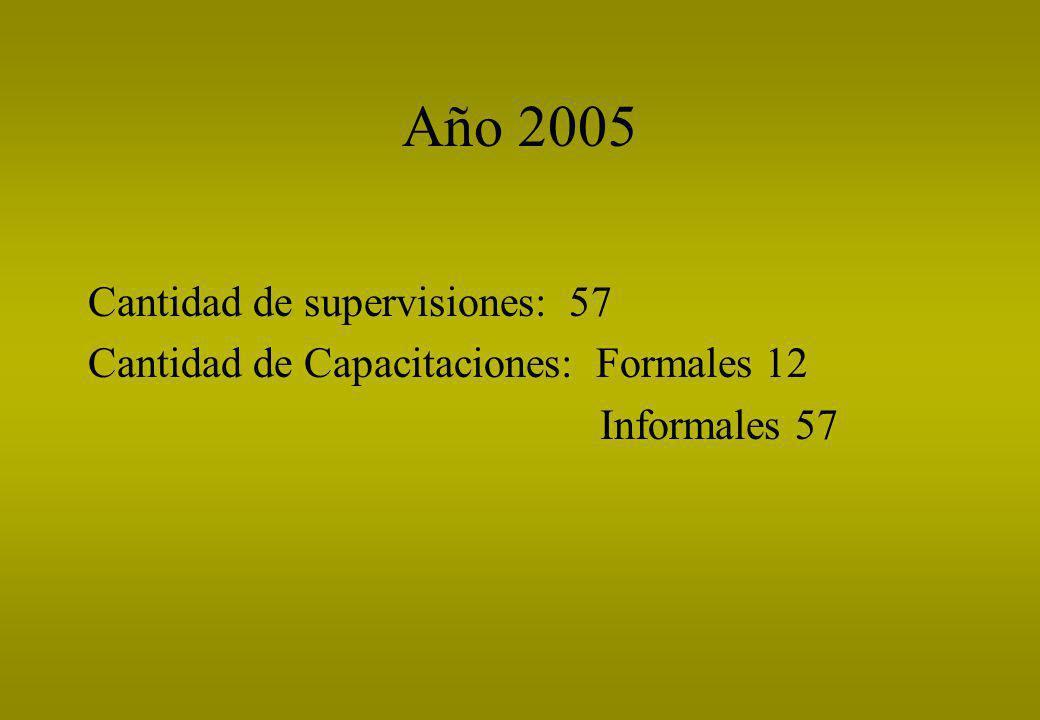 Año 2005 Cantidad de supervisiones: 57