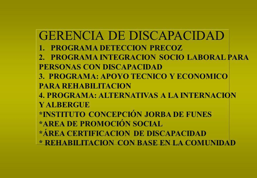 GERENCIA DE DISCAPACIDAD