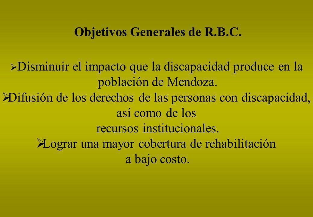 Objetivos Generales de R.B.C.