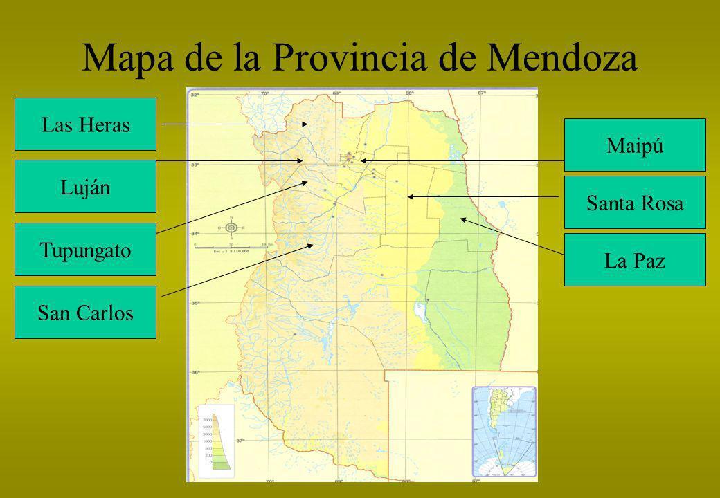 Mapa de la Provincia de Mendoza