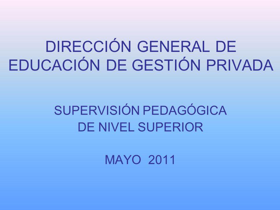 DIRECCIÓN GENERAL DE EDUCACIÓN DE GESTIÓN PRIVADA