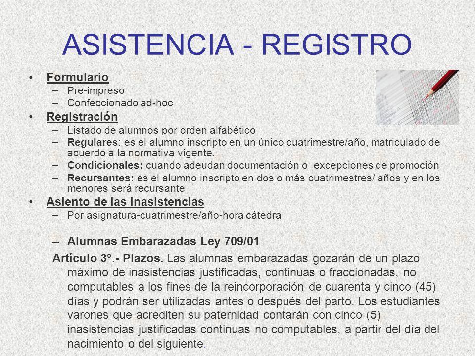 ASISTENCIA - REGISTRO Formulario Registración