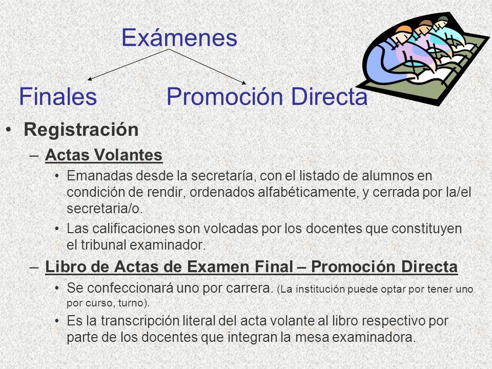 Exámenes Finales Promoción Directa