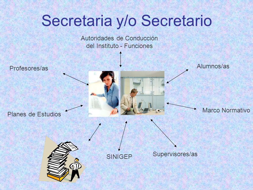 Secretaria y/o Secretario