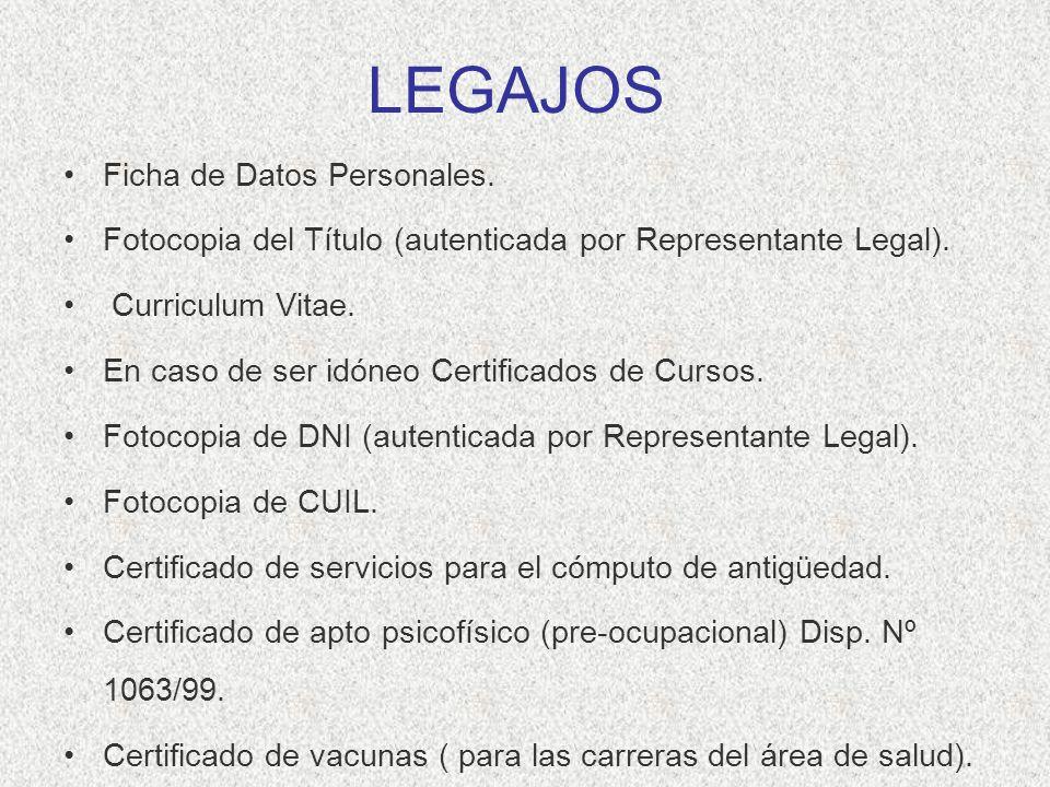 LEGAJOS Ficha de Datos Personales.