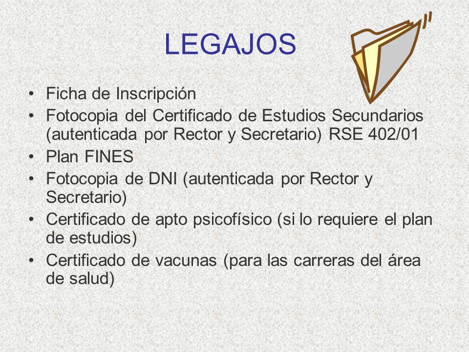 LEGAJOS Ficha de Inscripción