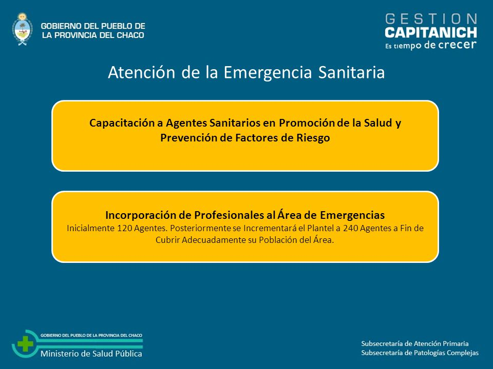 Incorporación de Profesionales al Área de Emergencias