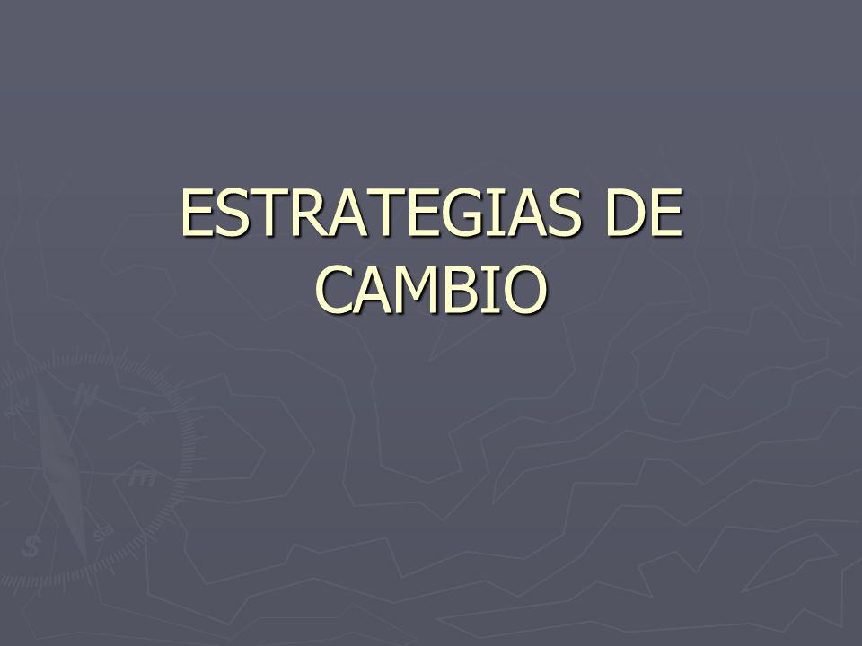 ESTRATEGIAS DE CAMBIO