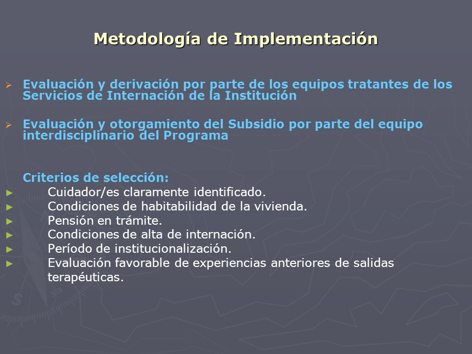 Metodología de Implementación