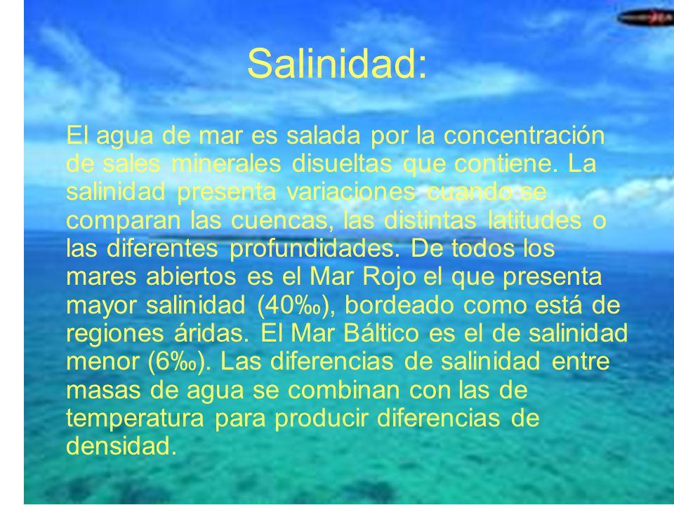 Salinidad: