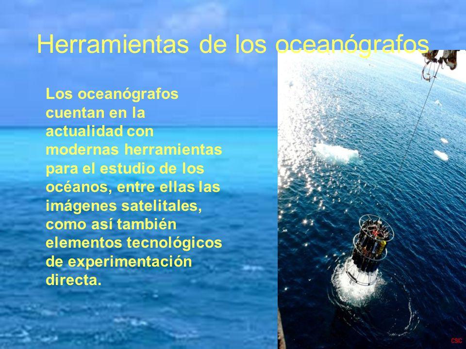 Herramientas de los oceanógrafos