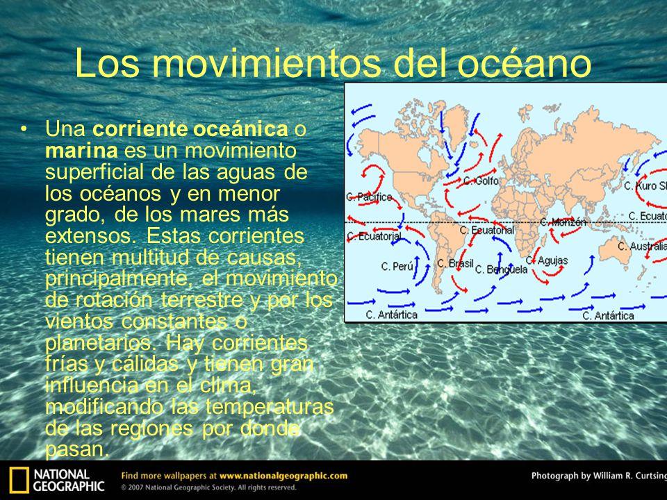 Los movimientos del océano