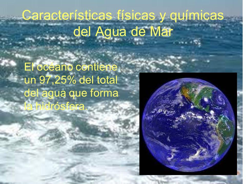 Características físicas y químicas del Agua de Mar