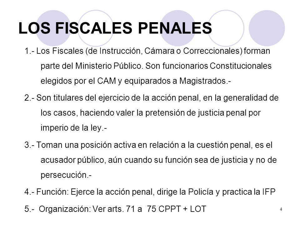 LOS FISCALES PENALES