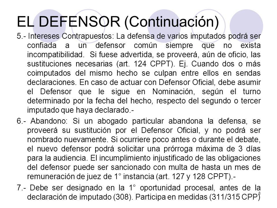 EL DEFENSOR (Continuación)