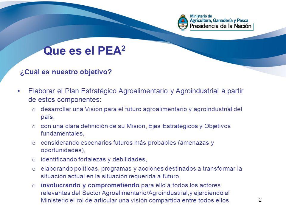 Que es el PEA2 ¿Cuál es nuestro objetivo