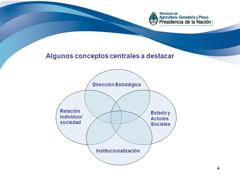 Algunos conceptos centrales a destacar
