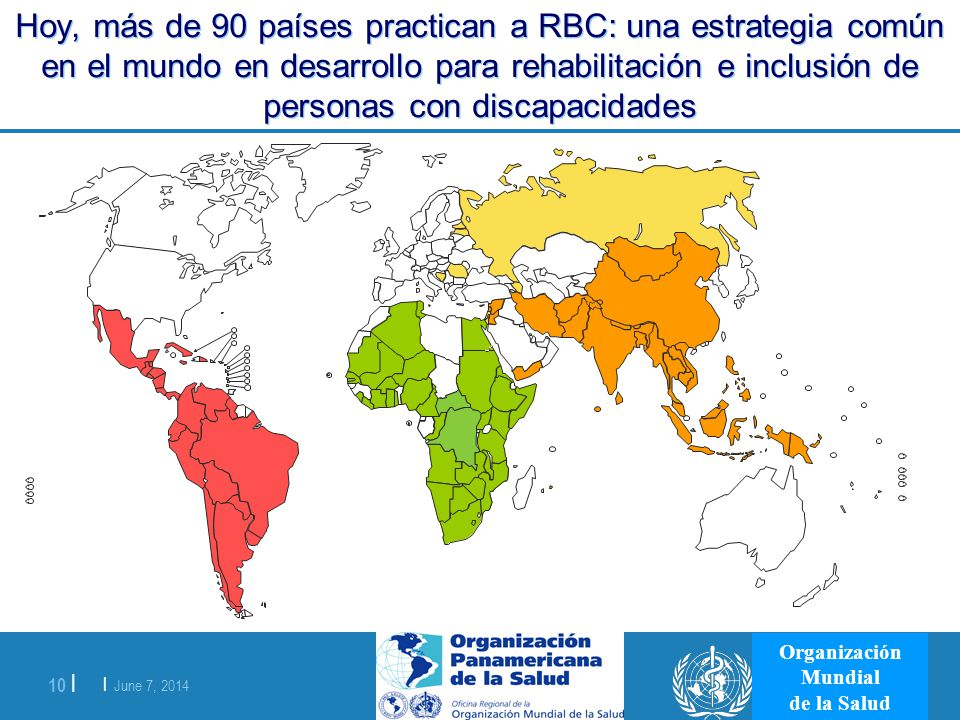 Hoy, más de 90 países practican a RBC: una estrategia común en el mundo en desarrollo para rehabilitación e inclusión de personas con discapacidades