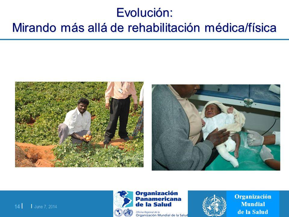 Evolución: Mirando más allá de rehabilitación médica/física