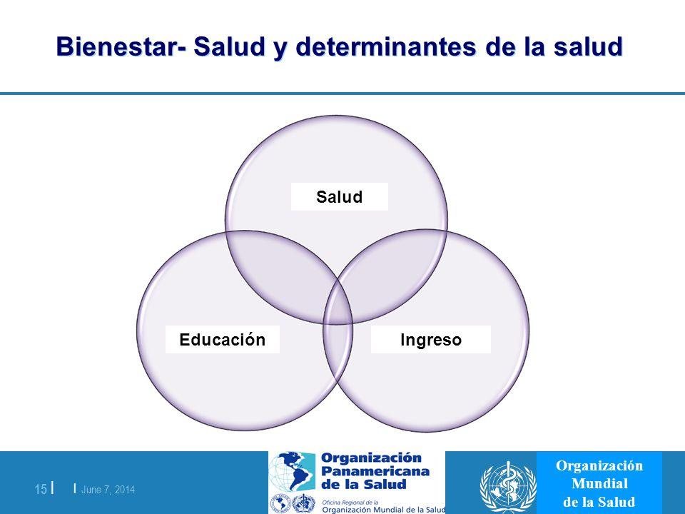 Bienestar- Salud y determinantes de la salud