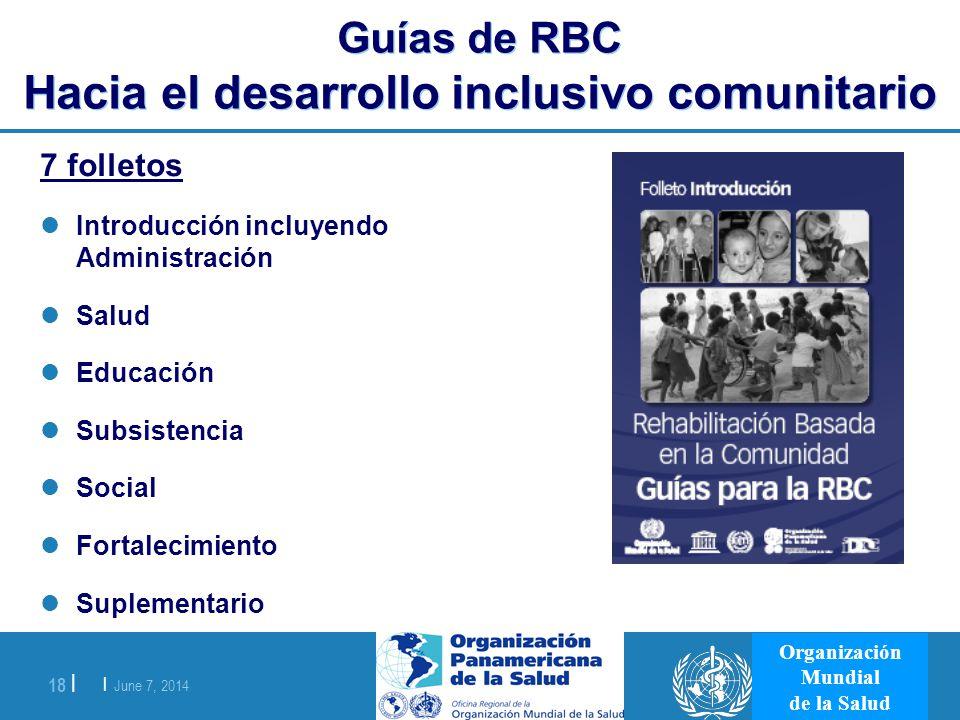 Guías de RBC Hacia el desarrollo inclusivo comunitario