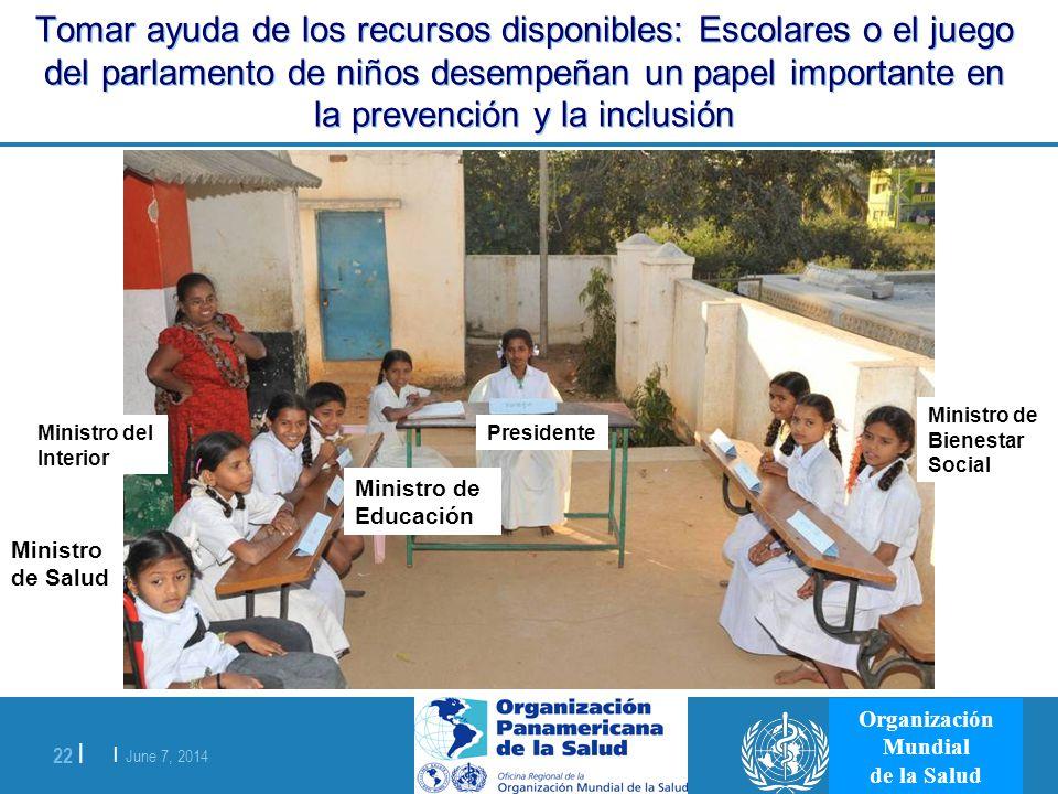 Tomar ayuda de los recursos disponibles: Escolares o el juego del parlamento de niños desempeñan un papel importante en la prevención y la inclusión