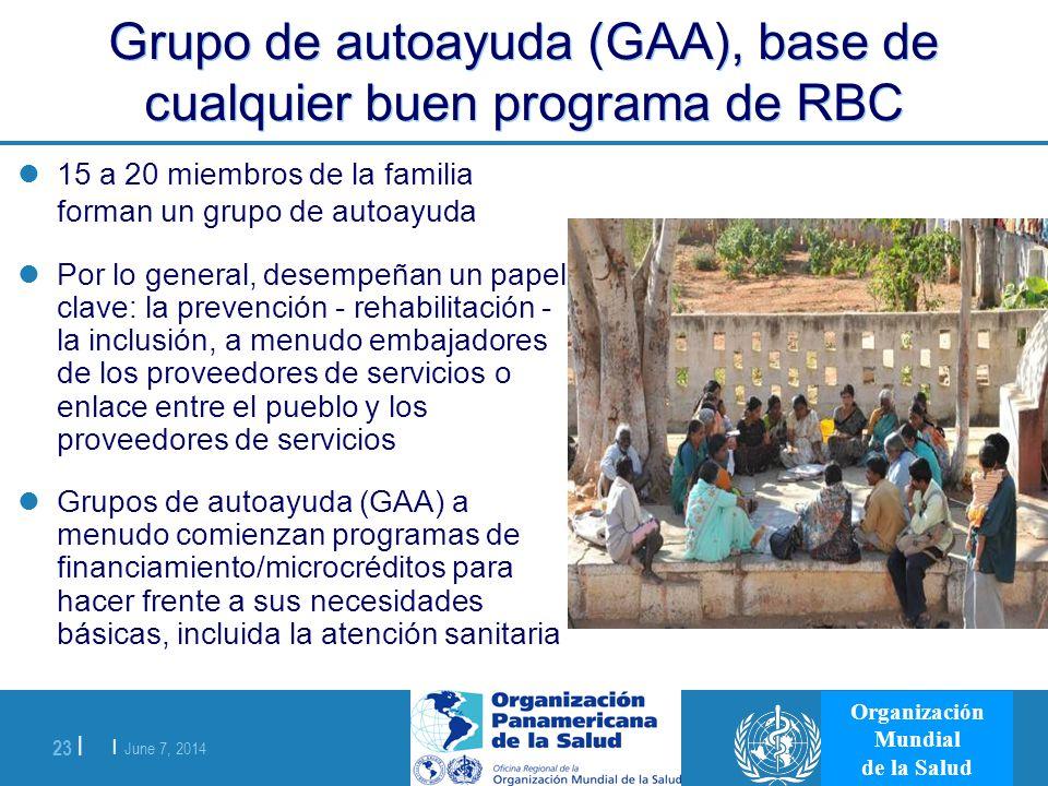 Grupo de autoayuda (GAA), base de cualquier buen programa de RBC