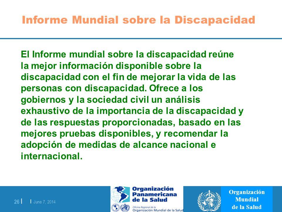 Informe Mundial sobre la Discapacidad