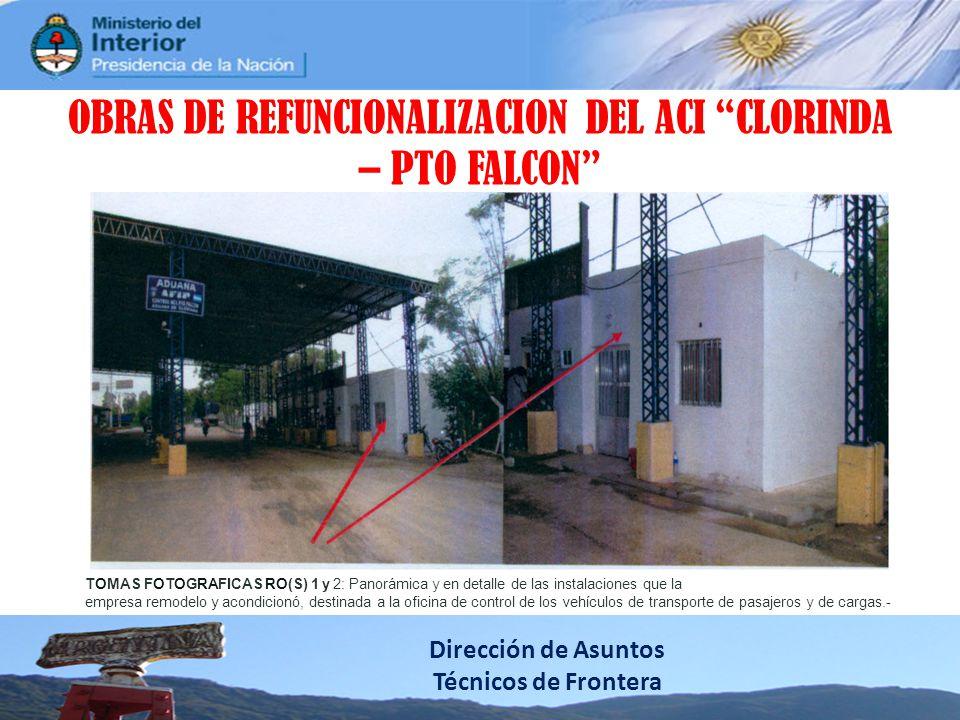 OBRAS DE REFUNCIONALIZACION DEL ACI CLORINDA – PTO FALCON