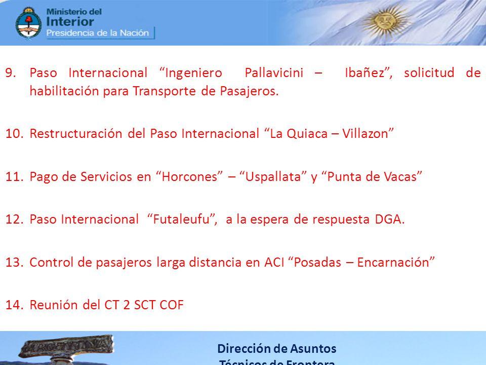 Restructuración del Paso Internacional La Quiaca – Villazon
