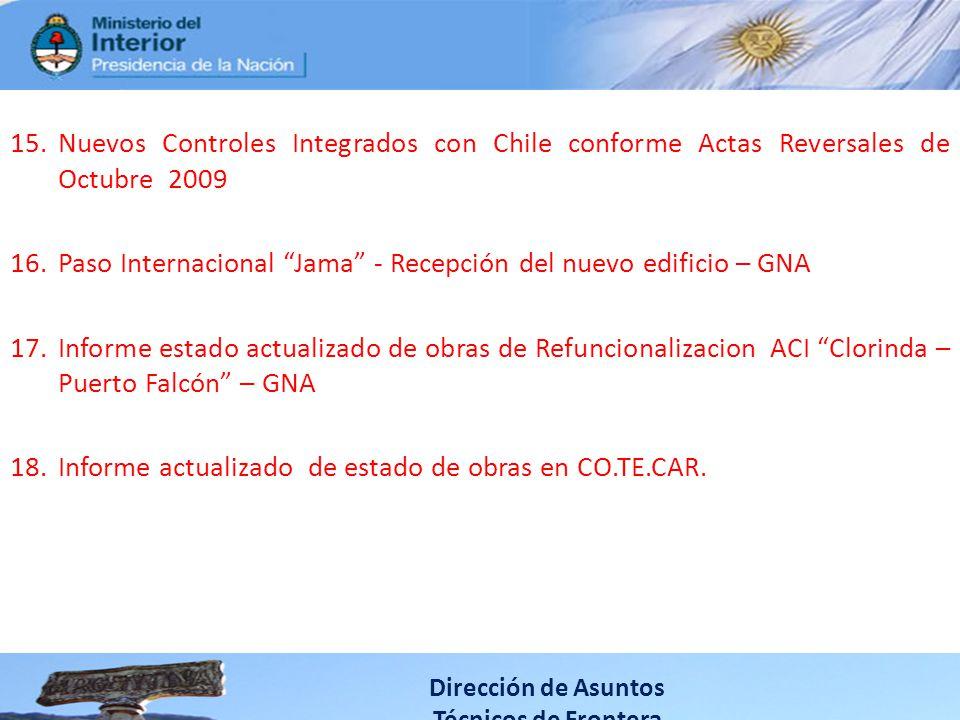 Paso Internacional Jama - Recepción del nuevo edificio – GNA