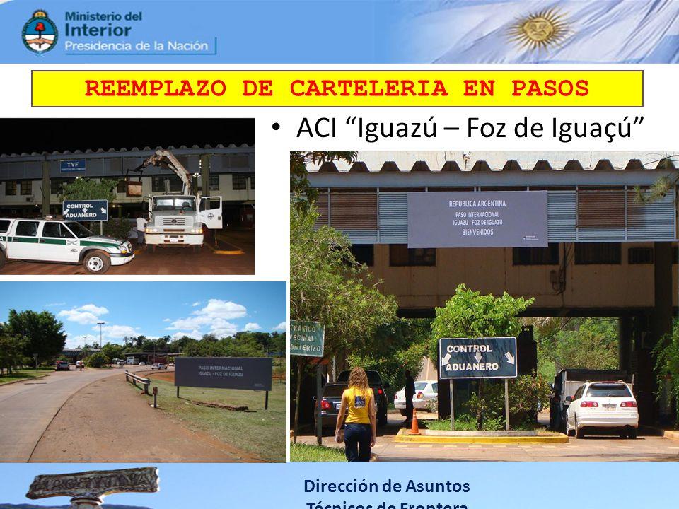 REEMPLAZO DE CARTELERIA EN PASOS
