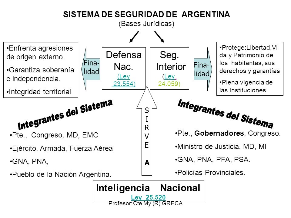 SISTEMA DE SEGURIDAD DE ARGENTINA (Bases Jurídicas)